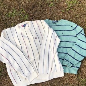 Polo RL/ Chaps RL crew sweaters 2 for one! size L